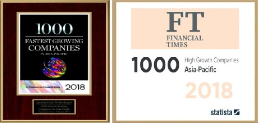 QualityKiosk Ranks 389th in FT 1000: High-Growth Companies (Asia-Pacific) List