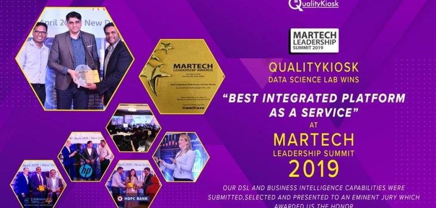 "QUALITYKIOSK WINS MARTECH AWARD 2019 FOR ""BEST INTEGRATION PLATFORM AS A SERVICE''"