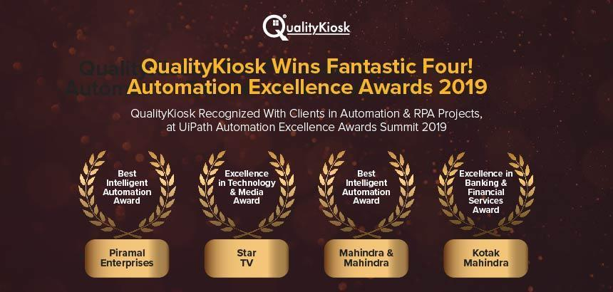 QUALITYKIOSK BAGS HIGHEST NUMBER OF AWARDS AT UIPATH AUTOMATION EXCELLENCE AWARDS 2019